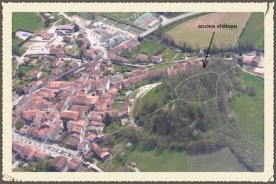 Les traces de l'ancienne fortification